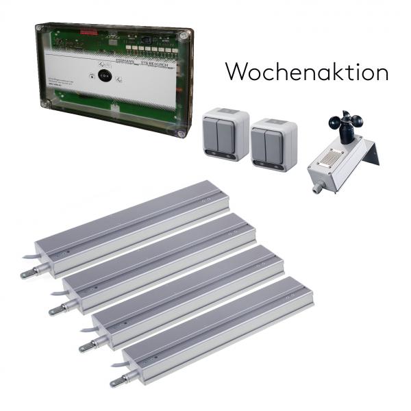 230 V AC Lüftungs-Set mit vier Linearantrieb M3